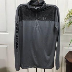 Under Armour Half Zip Long Sleeve Pullover YXL
